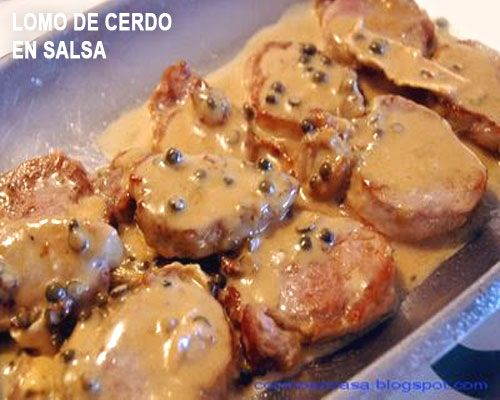 Solomillo de cerdo en salsa de champiñón