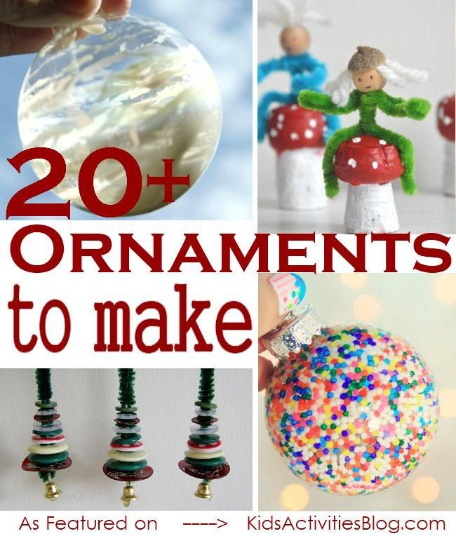 20  Ideas of Christmas Ornaments your Kids can make this Holiday Season!