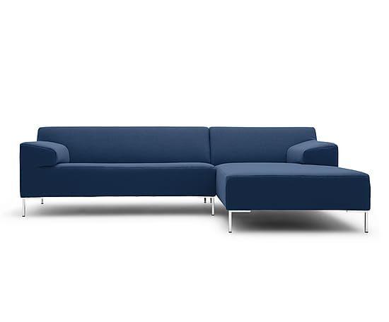 Divano con angolo dx Freistil 180 blu, 260x73x170 cm
