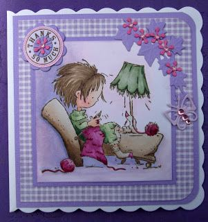 ink'n'rubba: Marianne Design die cuts with Knitting Daisy stamp coloured with Copics