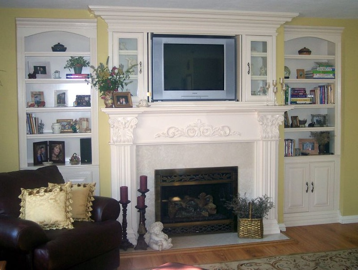fireplace: Fireplaces Mantels, Beaches House, Built In, House Ideas, Living Room, Dreams House, Fireplaces Bookshelves Tv, Fireplaces Ideas, Fireplaces Makeovers