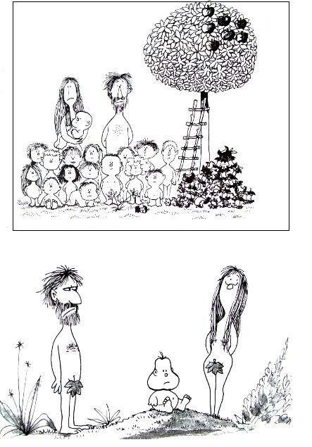 Adam & Eve - Quino