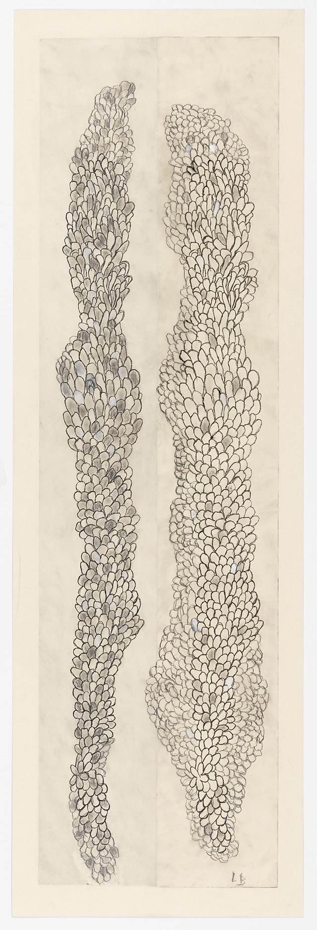 Louise Bourgeois, Tous les deux (Swaying), 2006. Etching, ink, gouache and…
