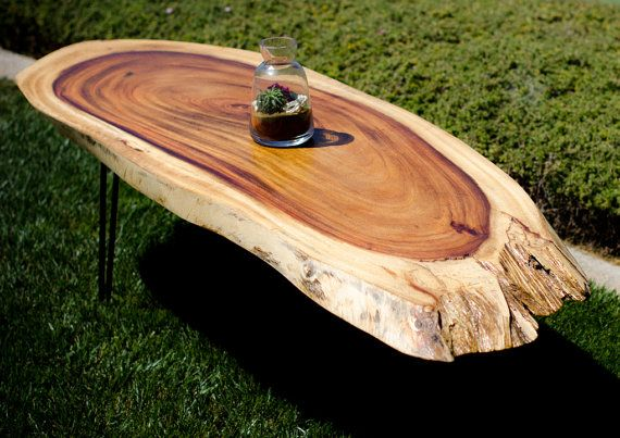 Natural Live edge exotic tropical coffee table by TheTimberLibrary, $1450.00