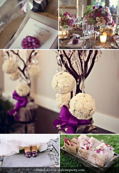 26 Best Purple Gold Wedding Images On Pinterest