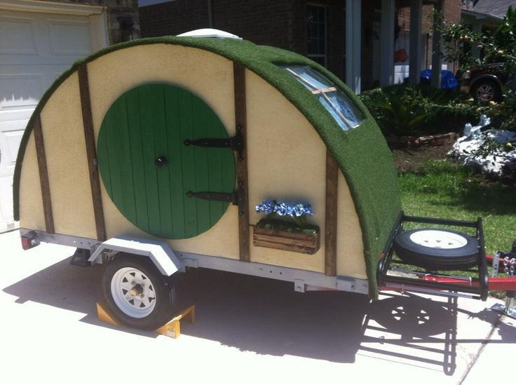 diy hobbit hole teardrop camping trailer ruggedthug - Tiny Camping Trailers