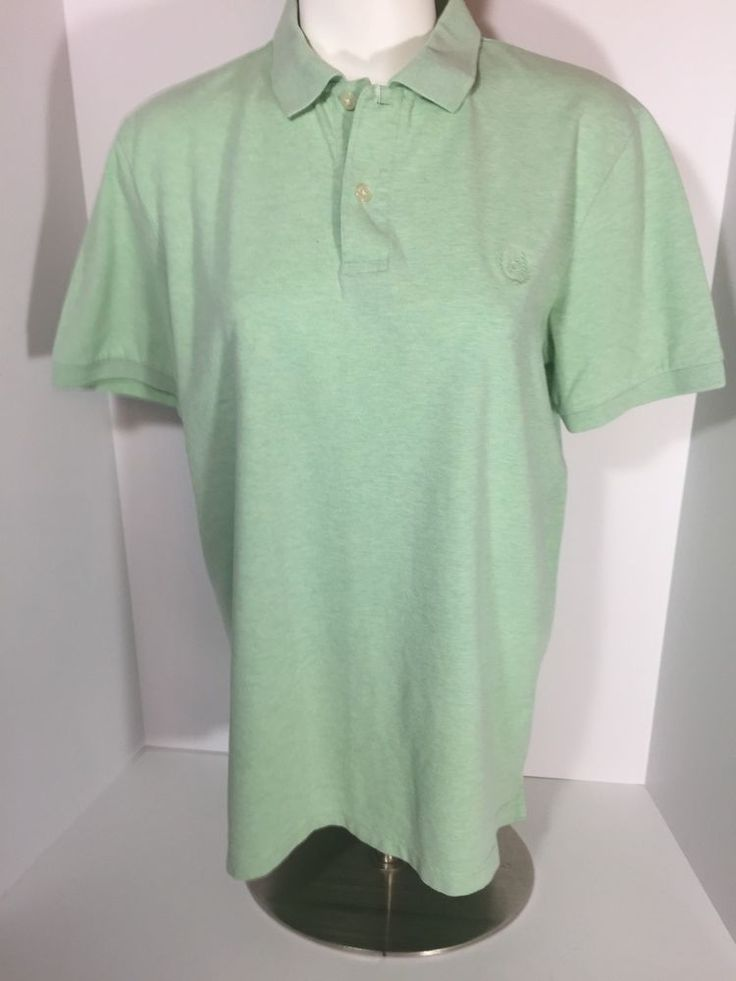 Chaps Easy Care Short Sleeve Polo Golf Style Shirt Men's Small Light Green (E1)    eBay