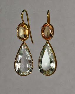 topaz earrings, 1810