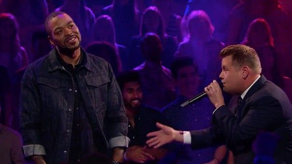 James Corden takes on Method Man in rap-battle gets predictably beaten