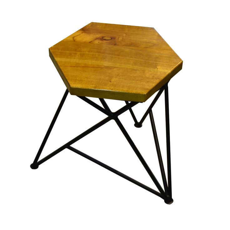 Stool Hexagon - Black. Enjoy the unique shape of Stool Hexagon. Let share more stories while sitting on it.