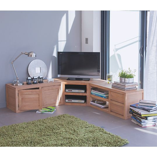 les 25 meilleures id es de la cat gorie meuble tv angle sur pinterest meuble tele angle. Black Bedroom Furniture Sets. Home Design Ideas