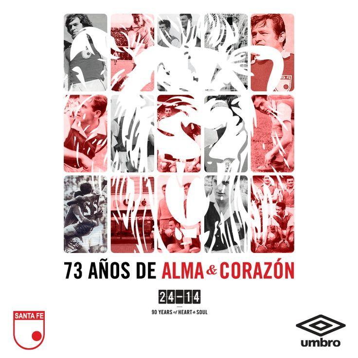 @UmbroColombia Junto a Independiente Santa Fe hemos conquistado grandes títulos y escrito grandes historias. Para nosotros es motivo de orgullo y alegría, vivir celebrar un año más.  Feliz cumpleaños # 73 León.