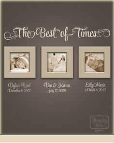 De Best of Times... - vinyl muur offerte met persoonlijke naam en datum belettering - Kies uw kleur