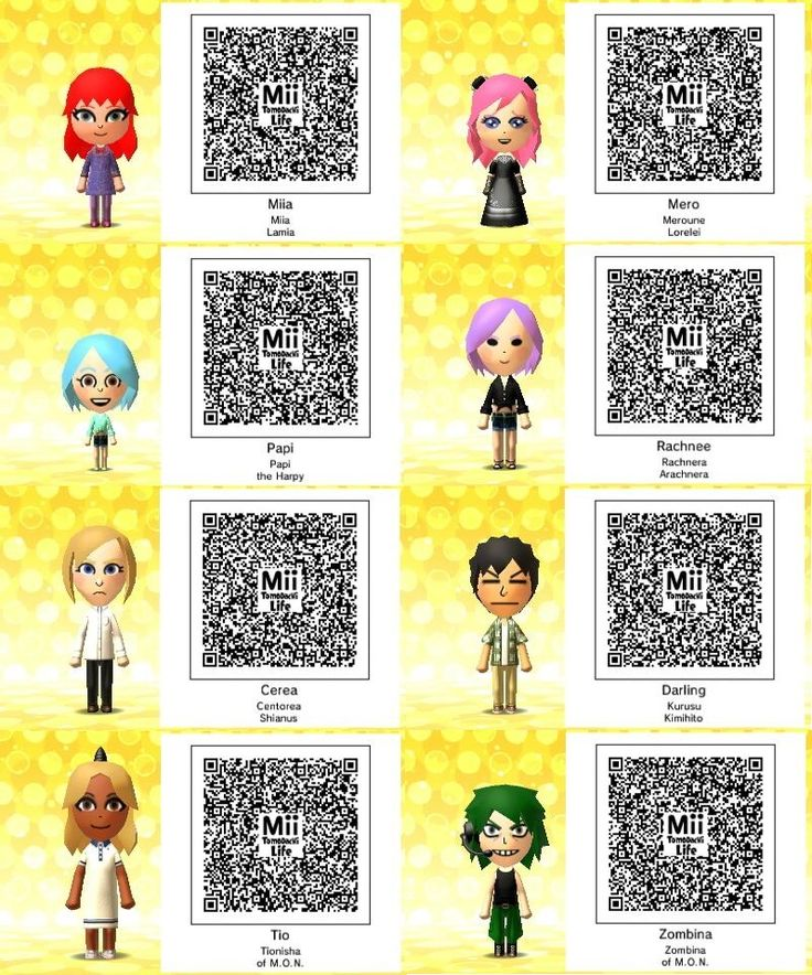 Anime Mii Characters 3ds : Best tomodachi life qr codes miis images on pinterest