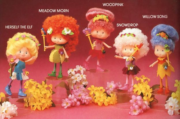 Herself the Elf and Friends Dolls---I forgot all about these but I remember having them!!