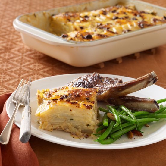 Creamy Scalloped Potatoes with Monterey Jack and Chipotle Recipe - Justin Chapple | Food & Wine