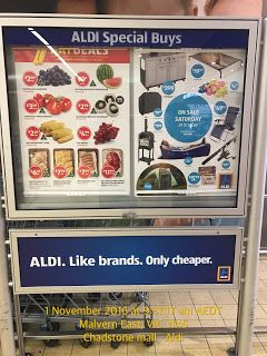 Wish ALDI Supermarket SALES AD Board advise customers on the availability of online grocery shopping   Food-And-Drinks Grocery Ideas Online-Shopping Sales Supermarket