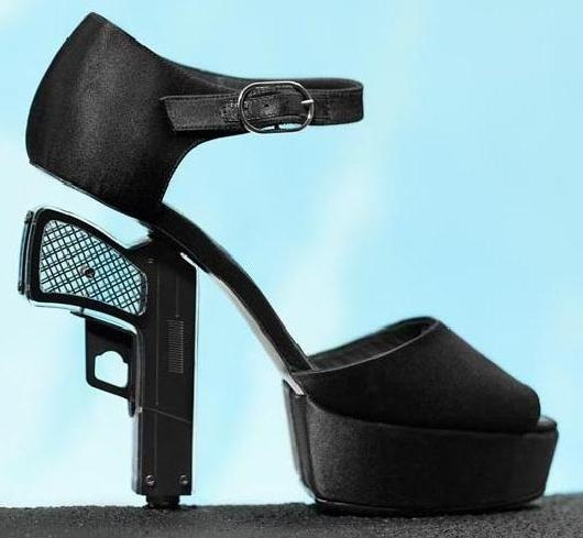 gun shoes by Chanel