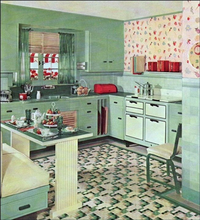 150 best 1940's images on pinterest | retro kitchens, vintage