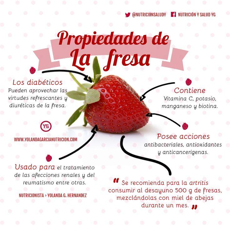 Propiedades de la fresa. Benéficos de la #fresa