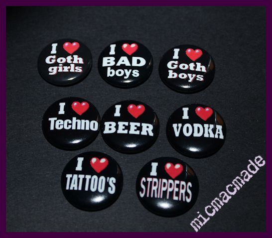 a badge for anything you love. tattoos, vodka,music..