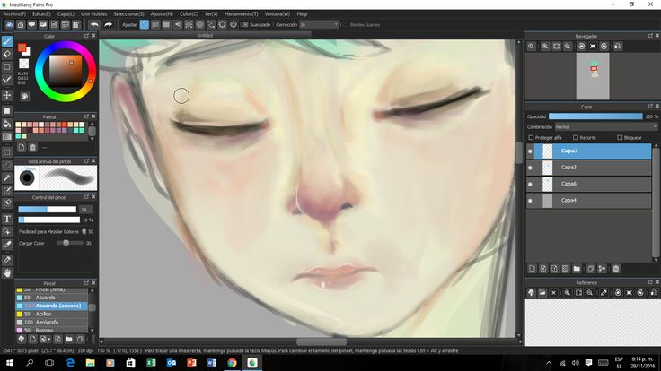 practicando con MediBang Paint Pro
