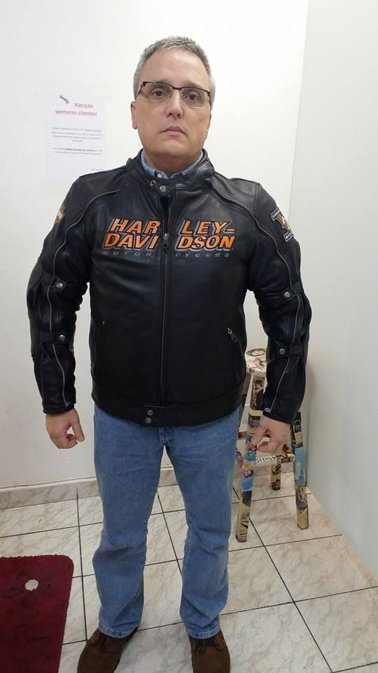 harley davidson com duas camadas de tecido    - jaqueta harley davidson dos Estados Unidos