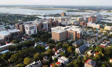 The Medical University of South Carolina (usually referred to as MUSC) is one of the five biggest employers in the Charleston area. MUSC is partly to thank for Charleston's good healthcare system. People come from around the state to see its specialists, and you'll find a hospital and quite a few doctors' offices affiliated with MUSC.