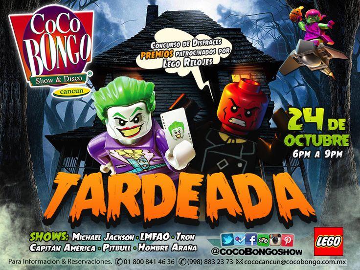 ¡Aparta la fecha para la próxima Tardeada en #Cancún: 24 de octubre! ¡Tendremos concurso de disfraces y premios por parte de @legorelojes!   +info: http://on.fb.me/1uuvxK8