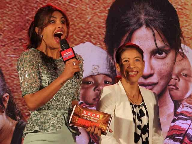 Real and Reel 'Mary Kom' Face the Music http://www.ndtv.com/video/player/news/real-and-reel-mary-kom-face-the-music/334141