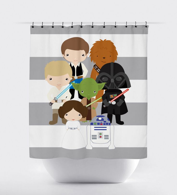 Star wars shower curtain fabric shower curtain little kid character
