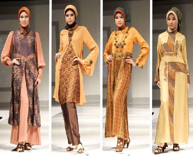 Model Baju Batik Gamis Terbaru 2017