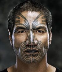 Ta Moko  The Ta Moko is a traditional Maori tattoo that is often done on the face, it is regarded as a taonga (treasure) to the Maori people and its application can be consider sacred. Each and every Moko contains messages that tell a story of the wearer's ancestral or tribal roots, it also contains a value. The value indicates the wearer's standing in the social class. #maoritattoosface