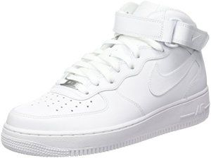Nike Air Force 1 Mid 07, Sneakers Hautes Homme, Blanc, 42.5 EU