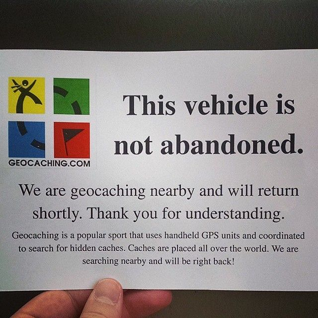 The sign every #geocacher needs!                                                                                                                                                                                 More