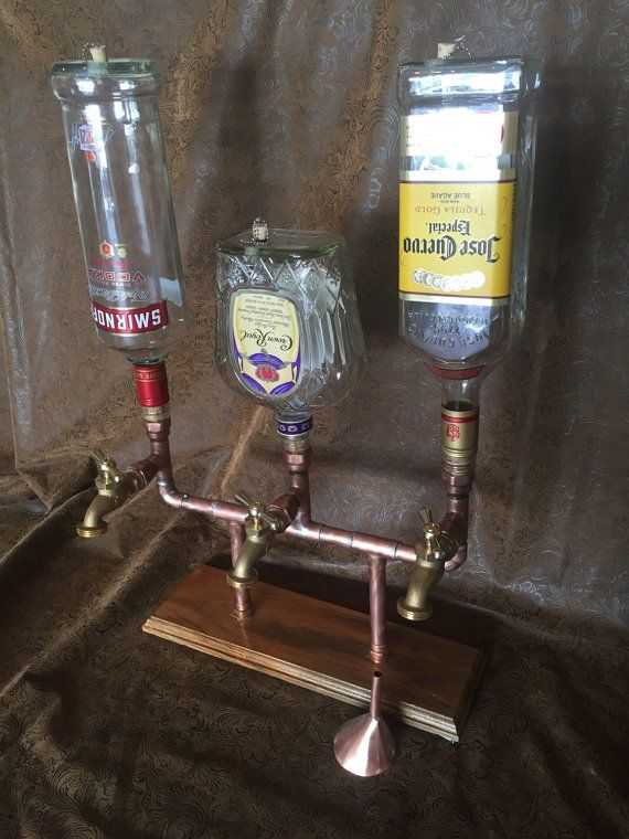 The Triple Whiskey/Liqour Dispenser With by ManMadeForManCave