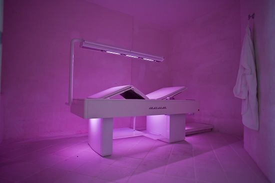 Steam bed ACUA by ISO Benessere at the Timobianco SPA, Masseria Muzza