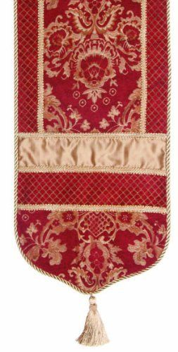 Jennifer Taylor 2606-747556545 Table Runner, 16-Inch by 120-Inch, Cover 40-Percent Polyster and 60-Percent Rayon by Jennifer Taylor. $142.67. Home decor brings classic style and luxurious comfort to the home. Table runner cover 40-percent polyster and 60-percent rayon. With cord, braid and tassels. Jennifer Taylor Table Runner, 16-inch by 120-inch, Cover 40-percent polyster and 60-percent Rayon, with cord, braid and tassels, Classic Style. Save 47% Off!