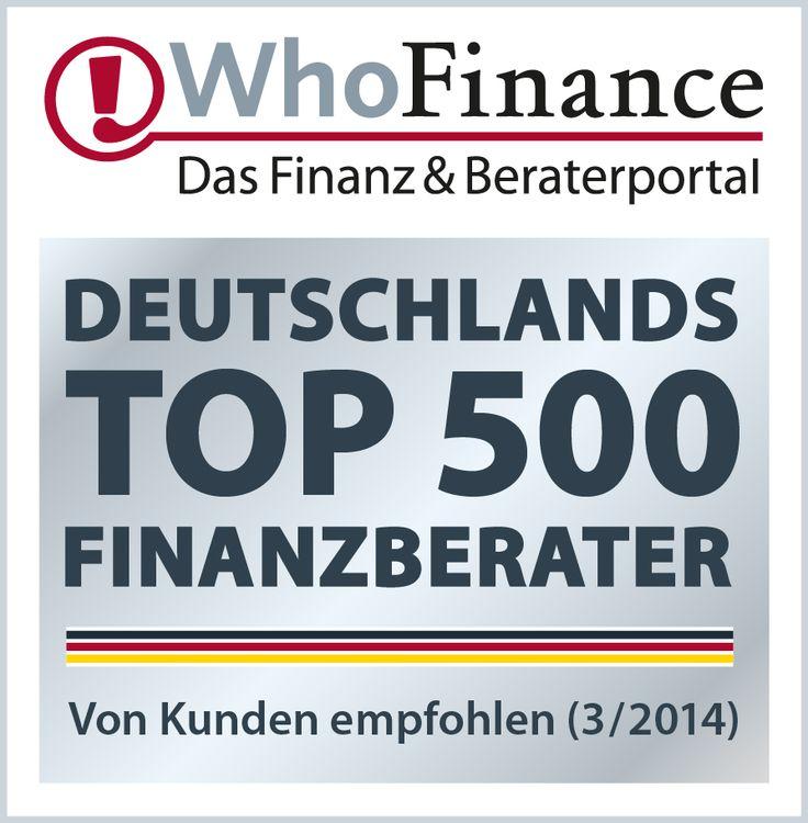 Wir sind auch in 2014 bei dieser tollen Auszeichnung wieder dabei. Langjährige Mandanten wissen die Vorteile unserer Arbeitsweise zu schätzen und empfehlen uns weiter. http://www.whofinance.de/robert-van-triel/