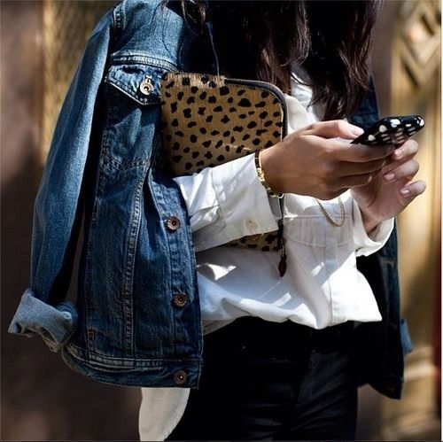 denim & cheetah print #style #fashion #streetstyle