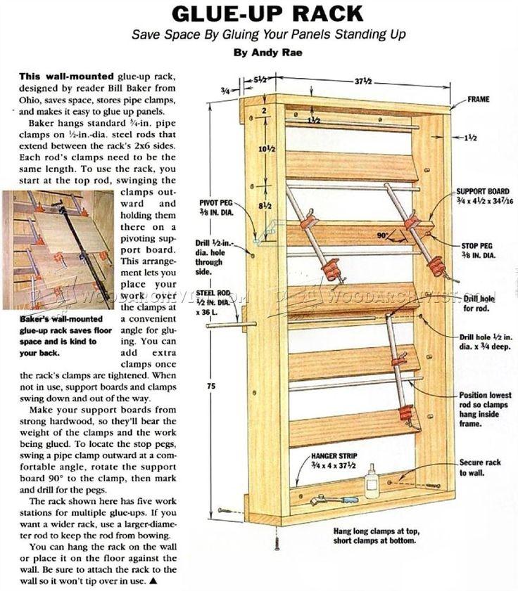 Glue Up Rack - Panel Glue Up Tips, Jigs and Techniques   WoodArchivist.com