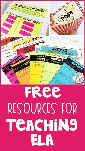 Lots of FREE ELA Resources! Vocabulary games, reading center posters, writing workshop lesson plans and so much more!