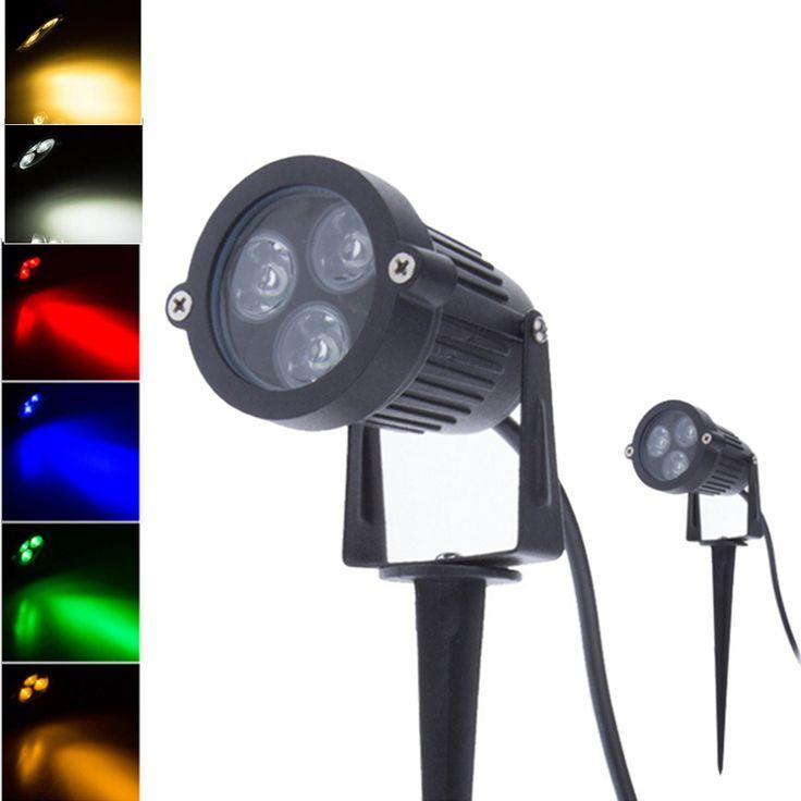 Mini 3*3W LED Lawn Lamps Garden Outdoor Lighting Waterproof IP65 Flood Spotlight Bulbs Floodlighting Lawn Landscape Lights GOLED