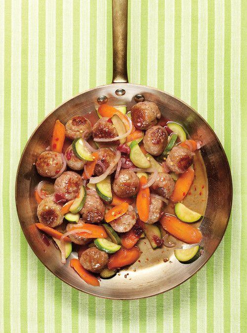 Boulettes de porc aigres-douces aux prunes Recettes | Ricardo                                 Miam!