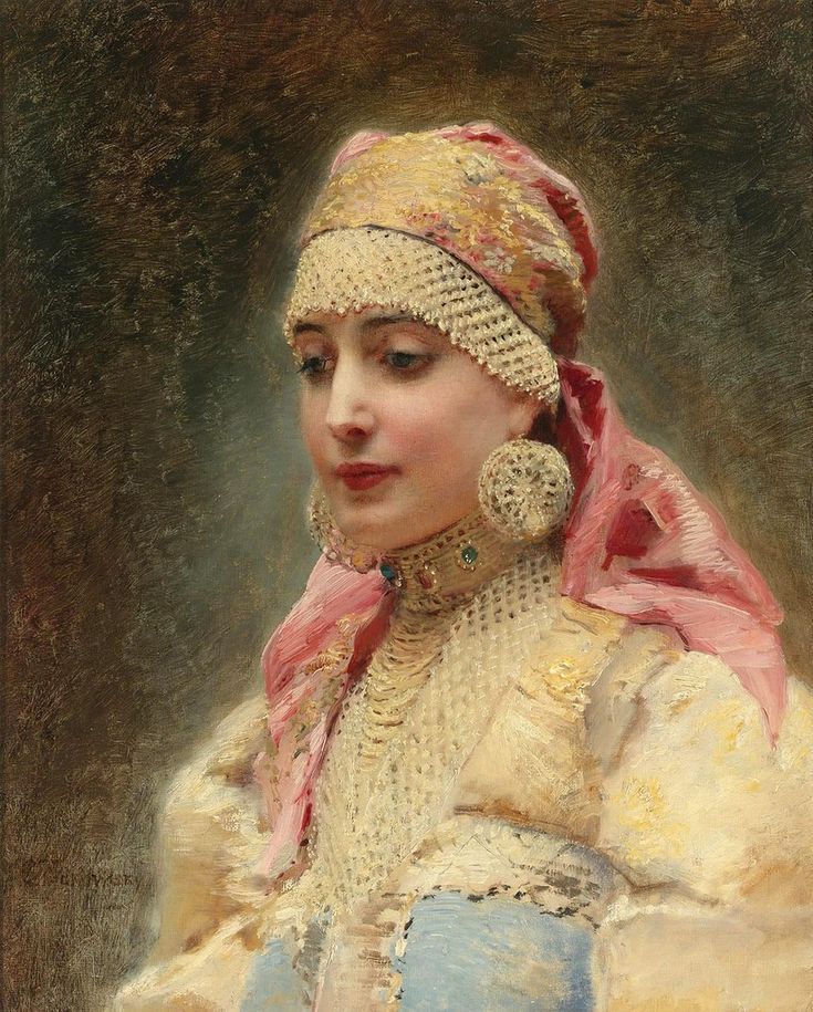 (1839-1915)Russian beauty, Konstantin Makovsky painting 2