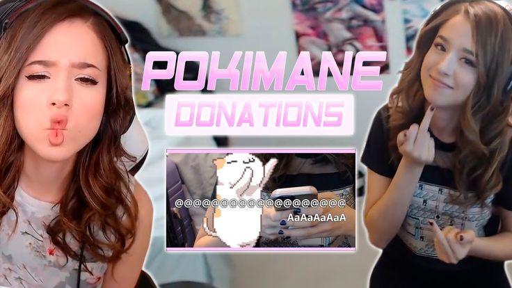 Pokimane FUNNIES & BEST DONATIONS [Montage] https//www