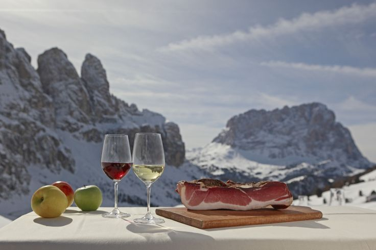 The only thing better than the food at Atla Badia resort, was the breathtaking scenery of the Italian Dolomites!