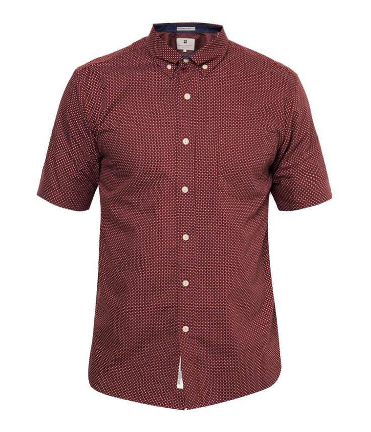 Men Shirt by Salt n Pepper. Men shirt made from cotton with brown color, short sleeves, front pocket and abstract motif print all over this brown shirt. Casual shirt that can go well with jeans, or a chino,  complete your casual style within this brown shirt. http://www.zocko.com/z/JG0kF