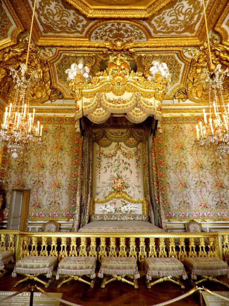 The King's Bed... Palace of Versailles ~ France