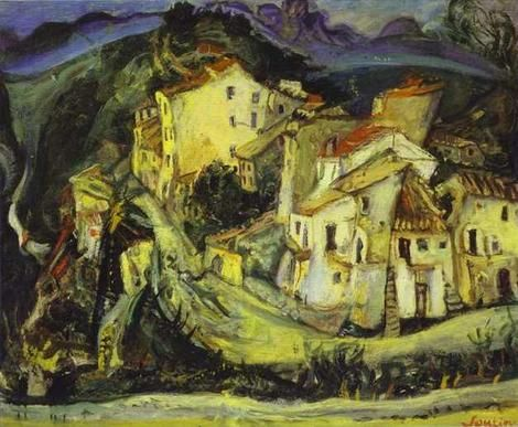 Chaim Soutine, Houses of Cagnes on ArtStack #chaim-soutine #art